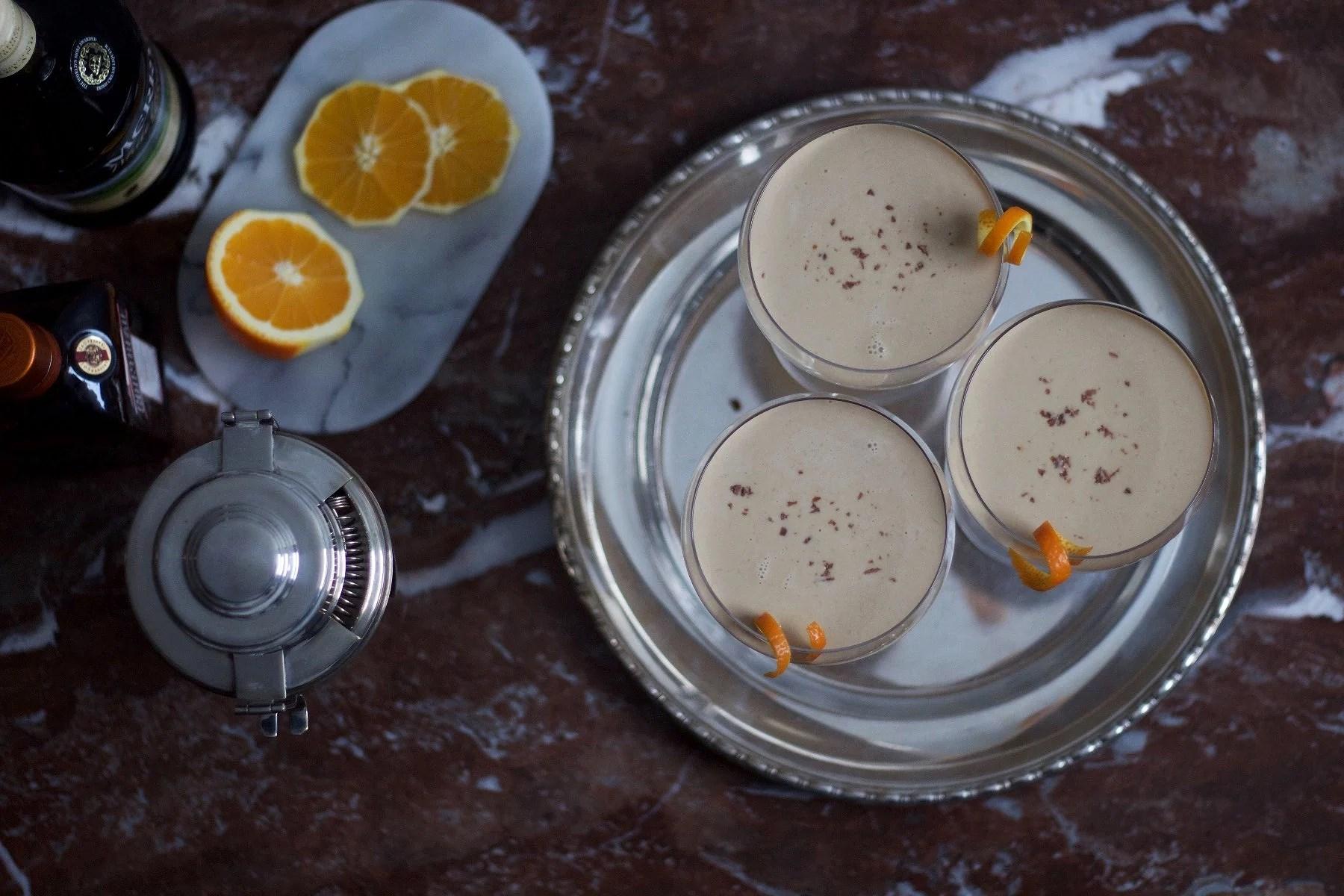 White chocolate, espresso & orange cocktail.