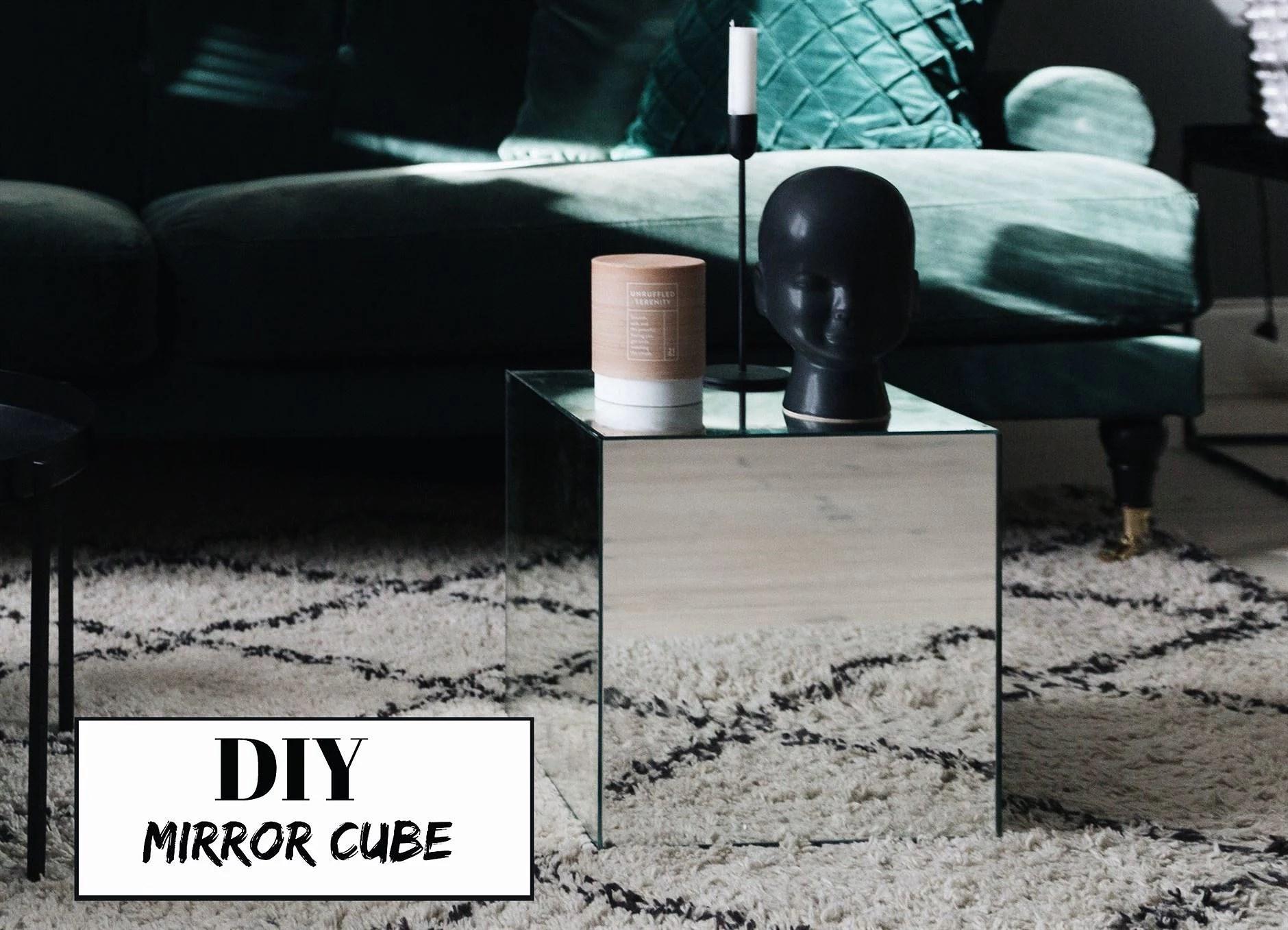 DIY - MIRROR TABLE/CUBE