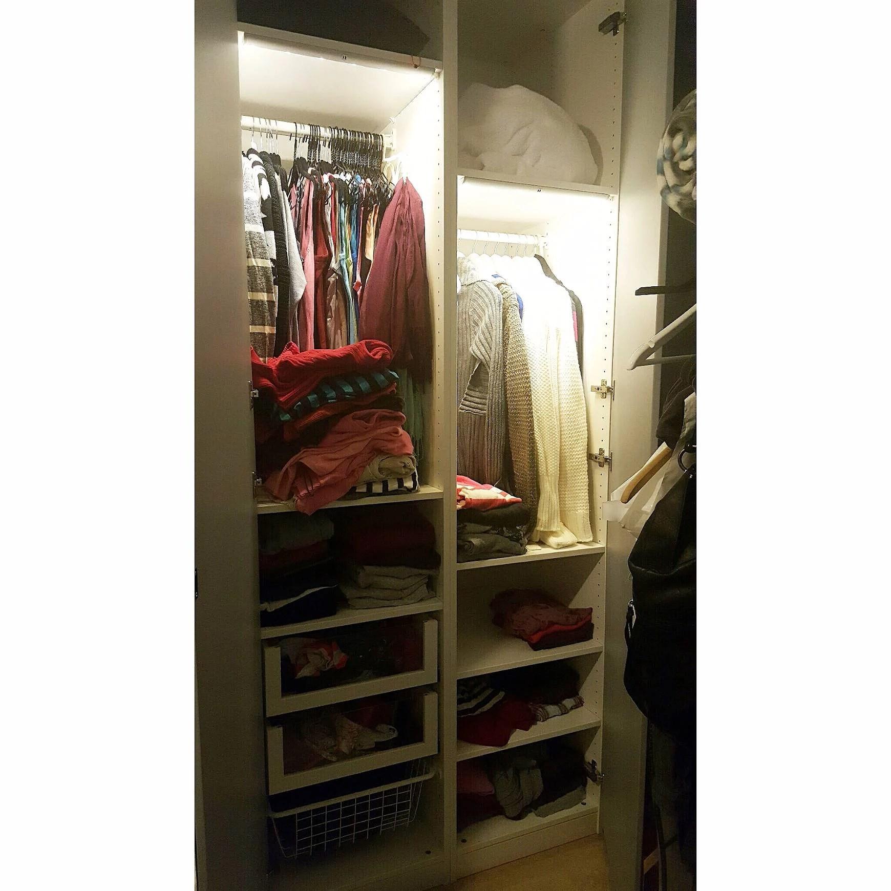 Projekt rensa garderob påbörjad.