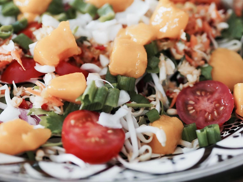 Nyttig sallad spicy mango recept
