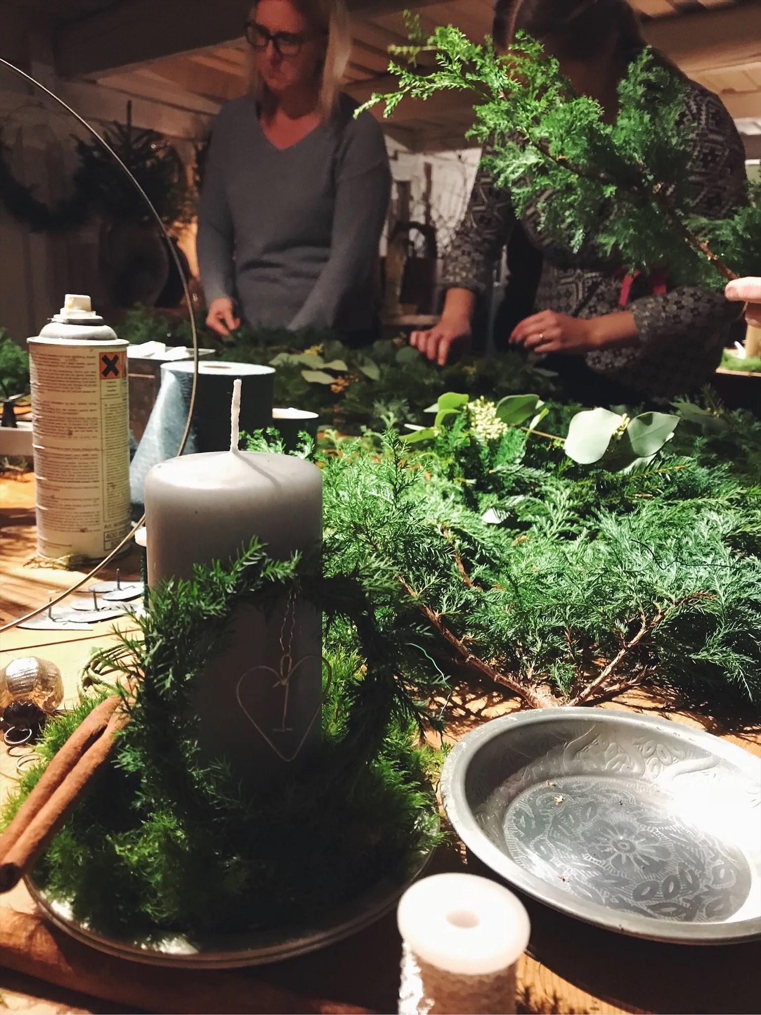 Julpyssel med svärfamiljen