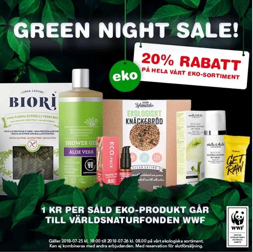 20% hos Apotea på allt ekologiskt!