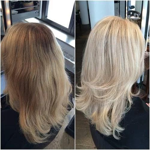 Att färga ett blondt hår