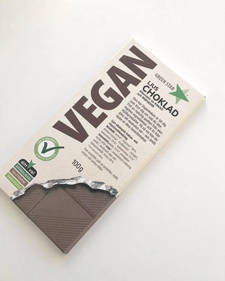 Vegansk choklad.