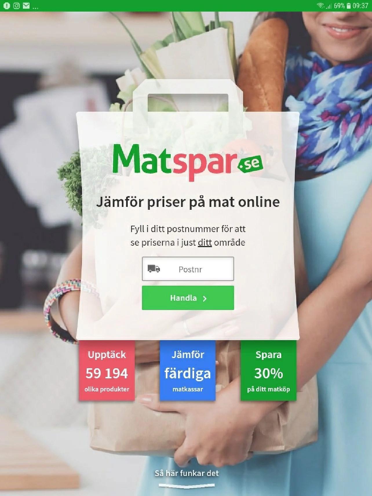 Matspar.se hjälper oss att spara mycket pengar när vi handlar på matbutiker online