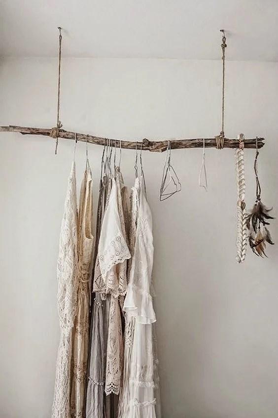Decorar con troncos y ramas secas