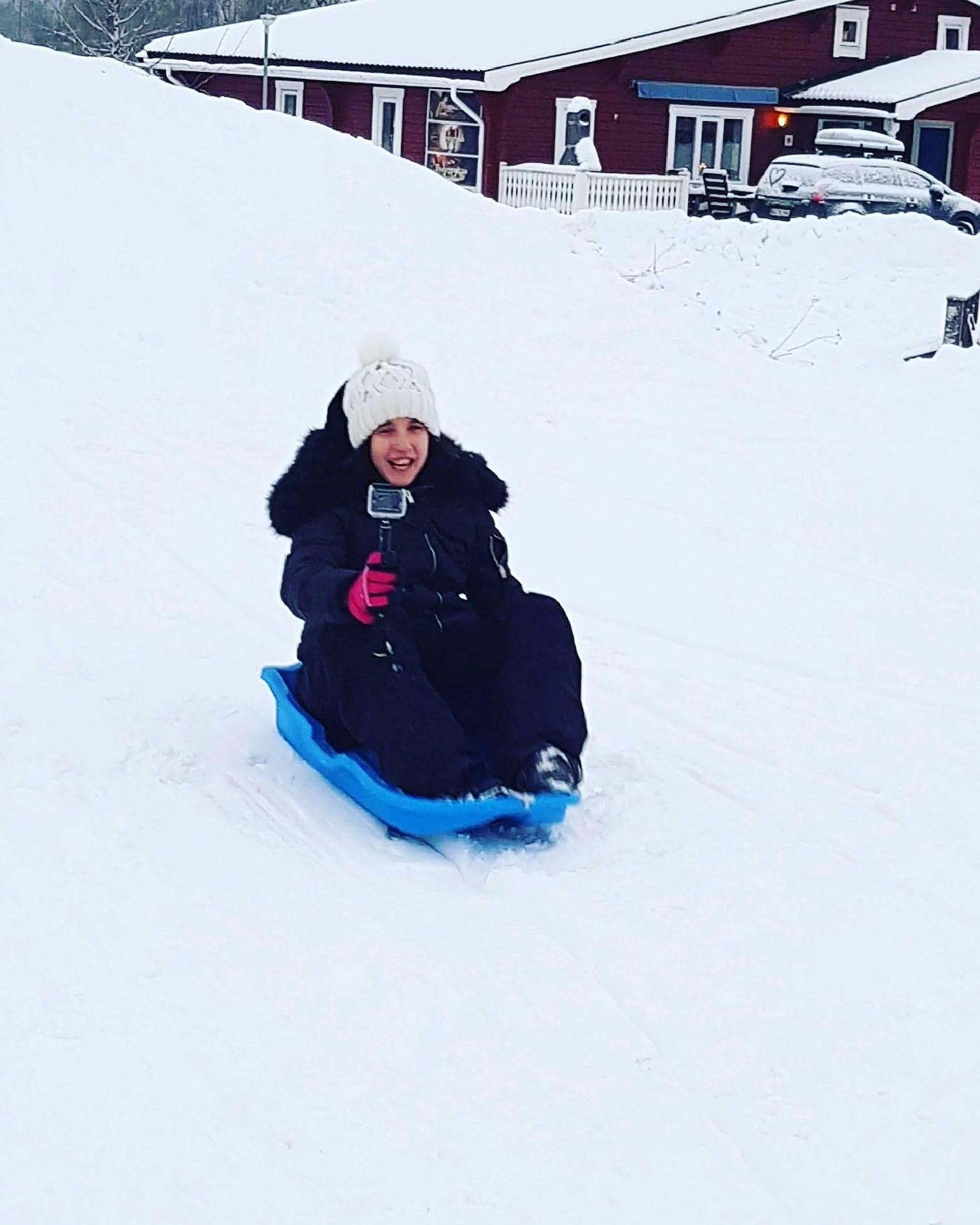 Pulkaåkning i Branäs