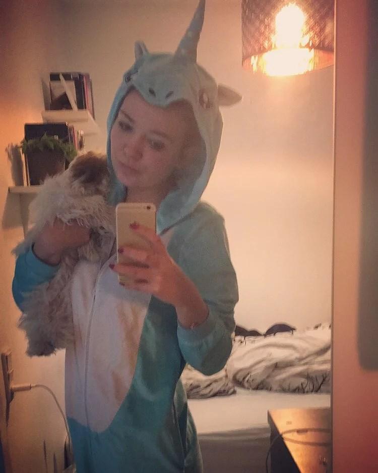 På en dårlig dag hopper jeg ofte i mit unicorn- outfit. Så bliver alt bedre