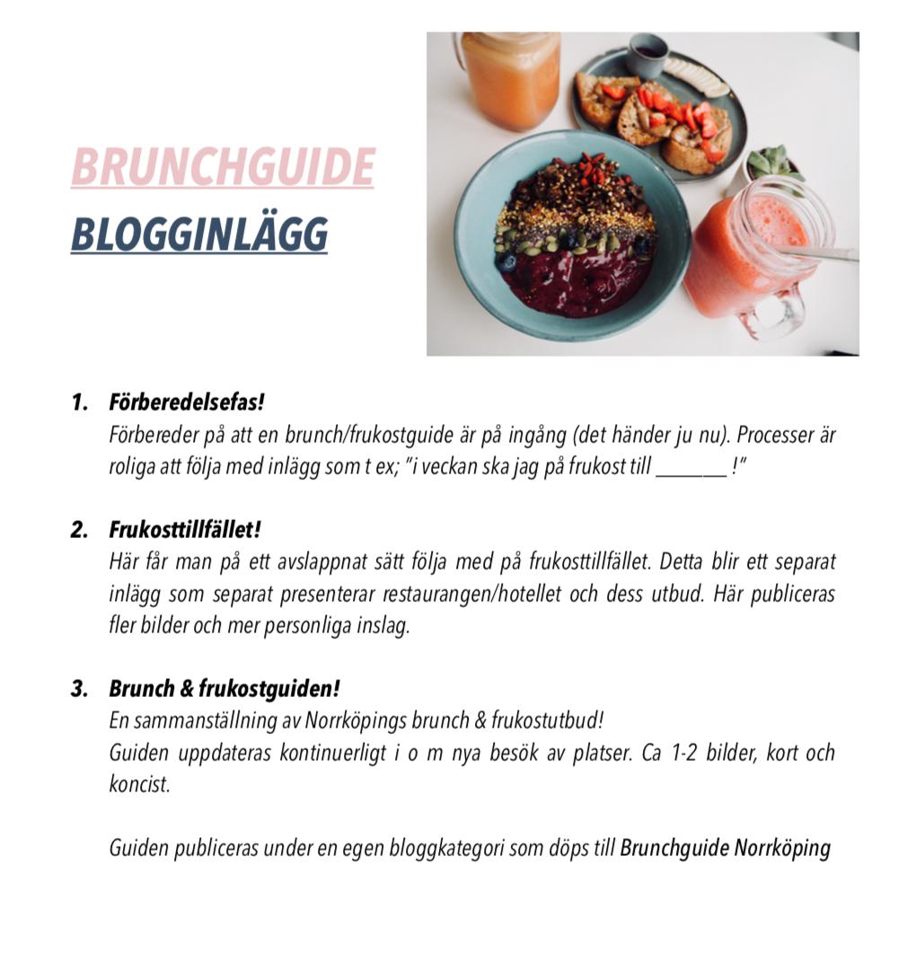 Brunchguide Norrköping