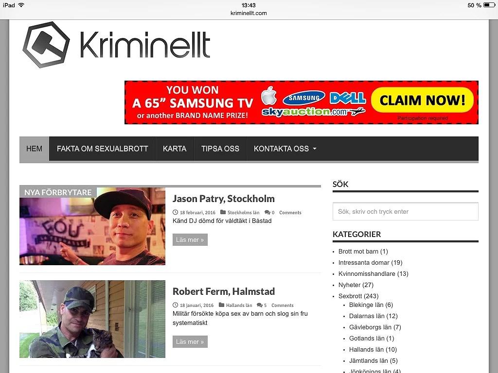 Ligger och läser på kriminellt.com
