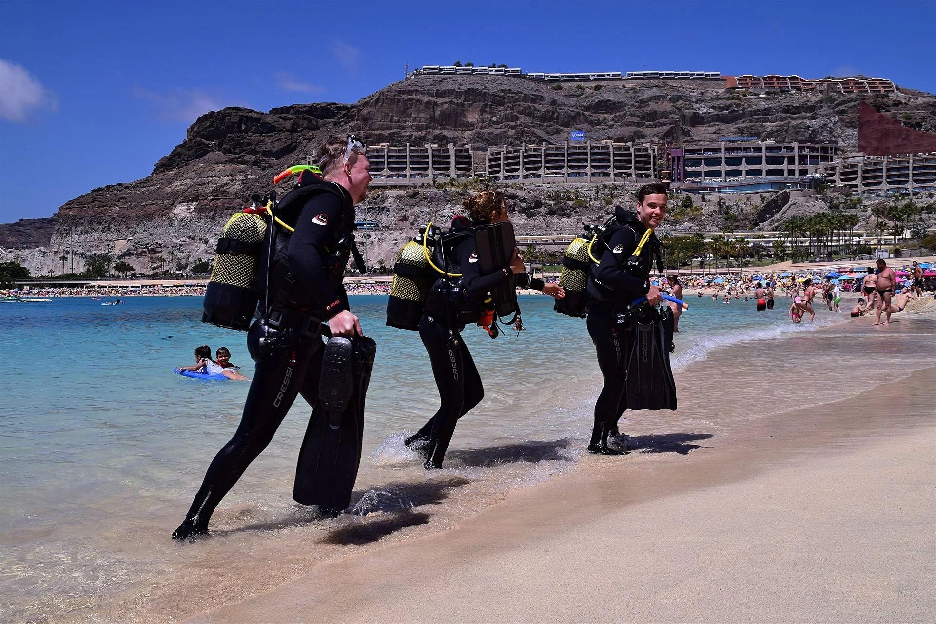 scuba diving på resan