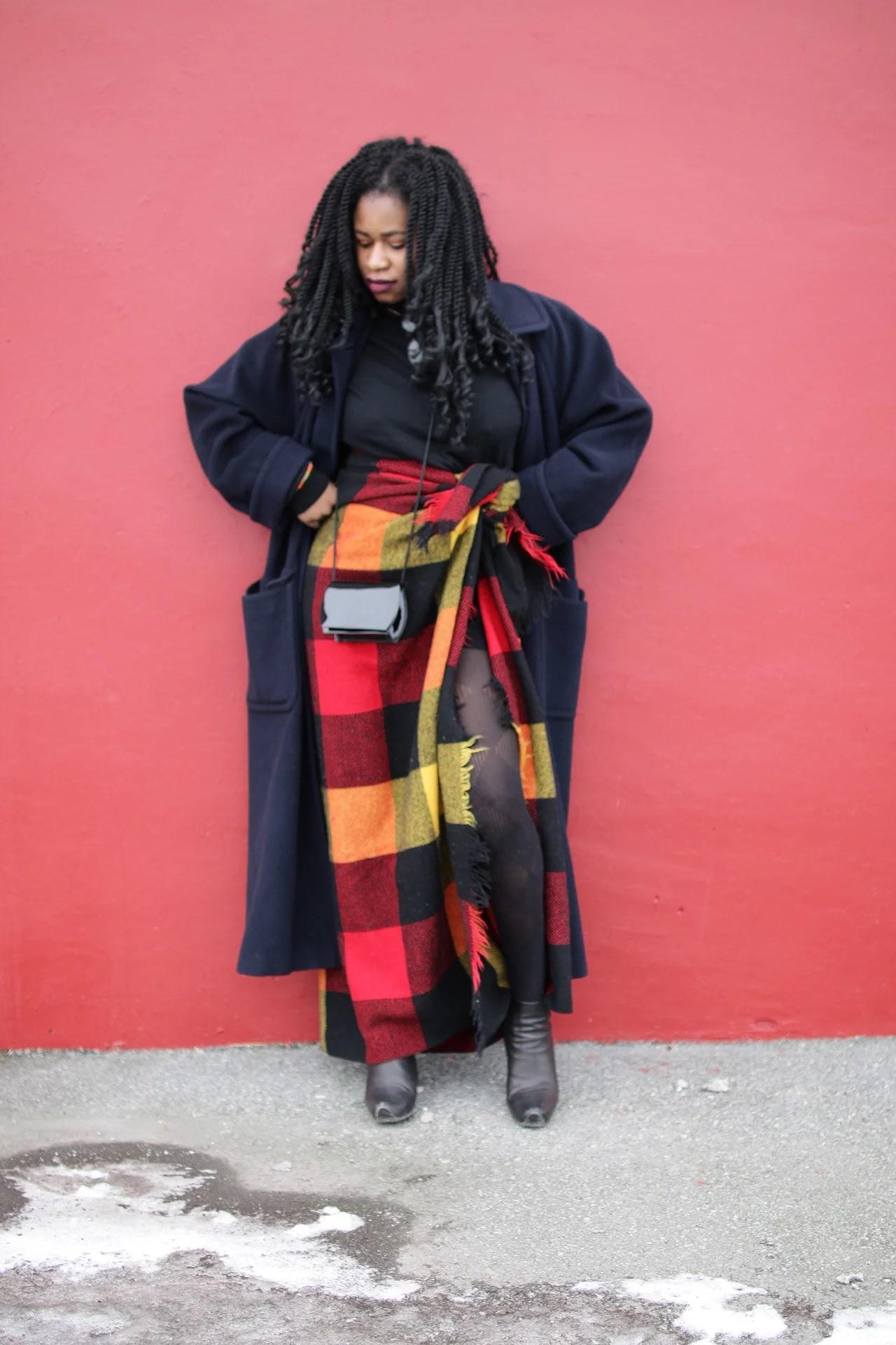 Maasai inspired blanket style