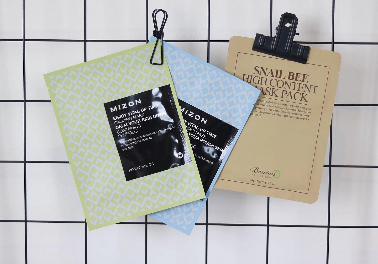 sheetmask benton och mizon