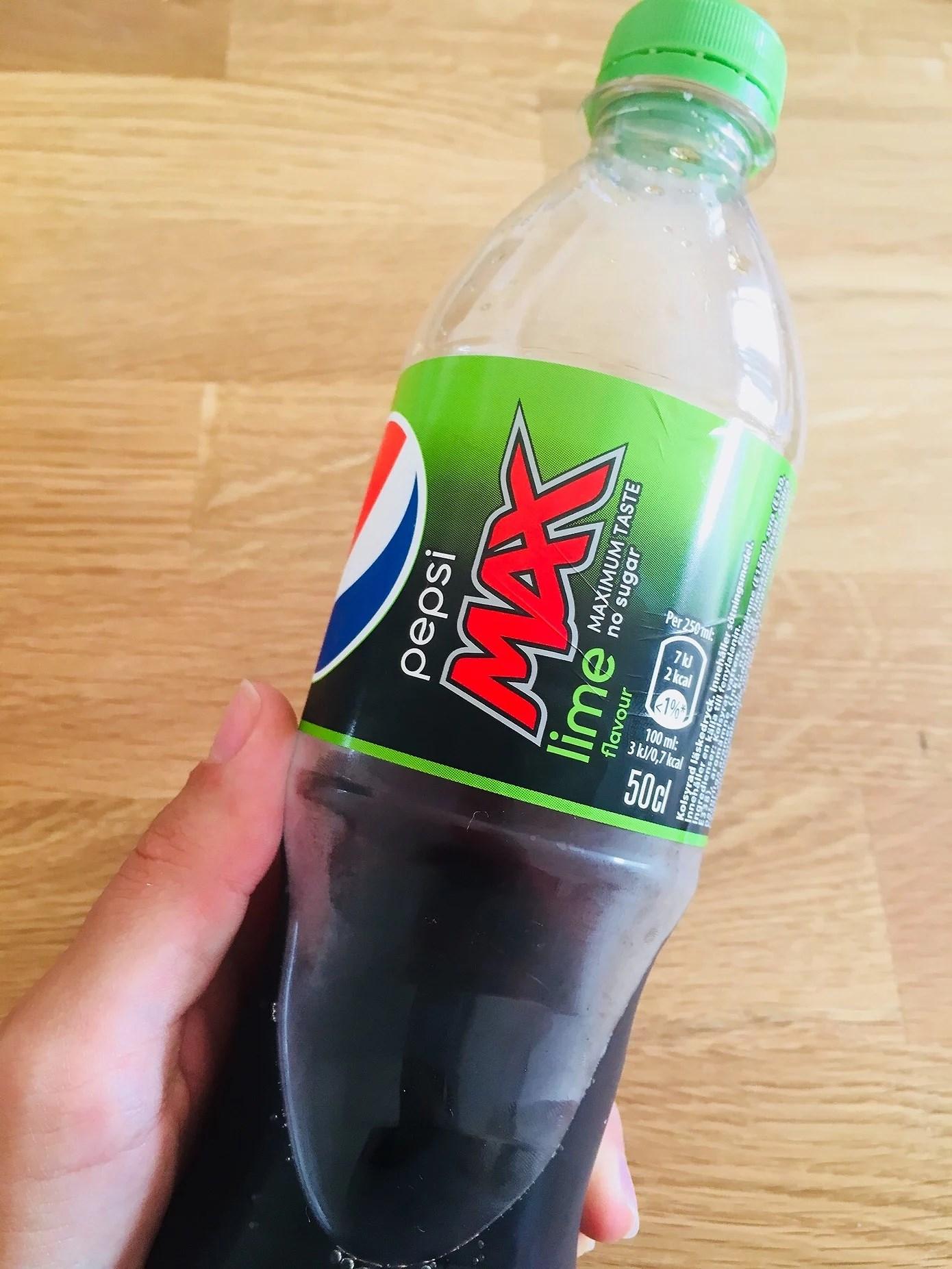 Pepsi Max Lime + matlådor