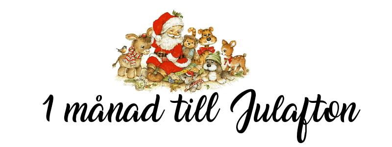 1 månad kvar till julafton