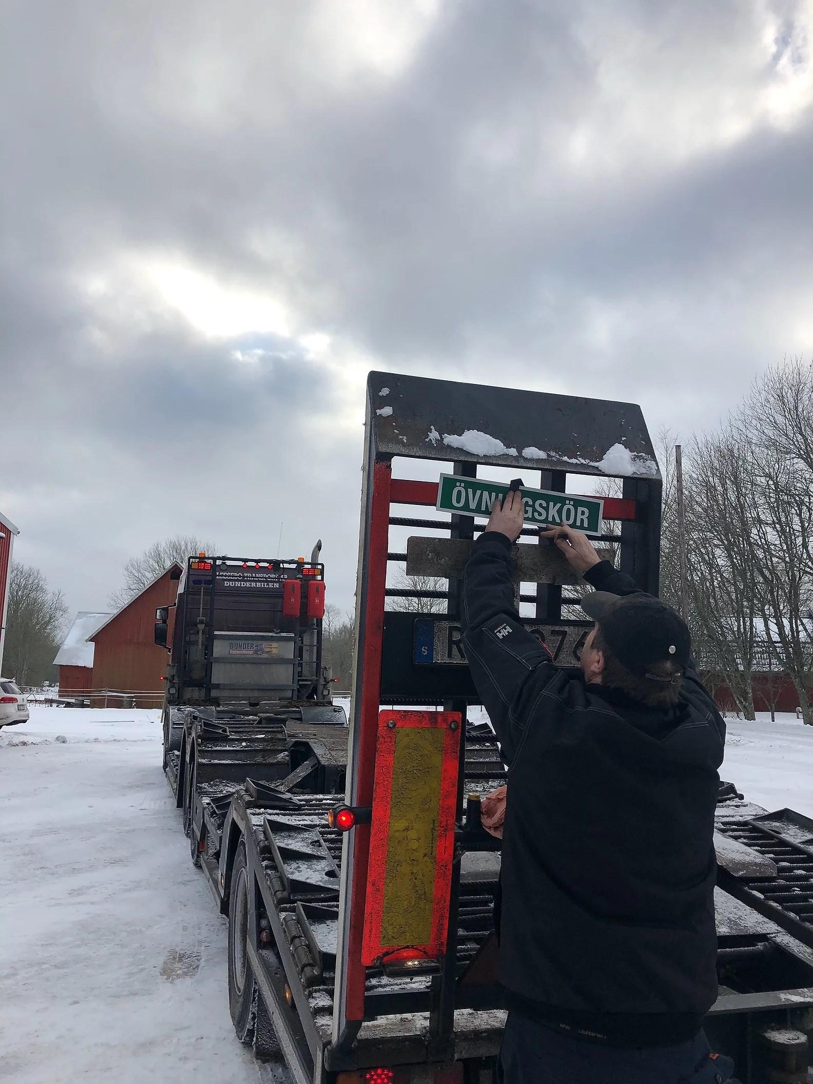 Körde lastbil!