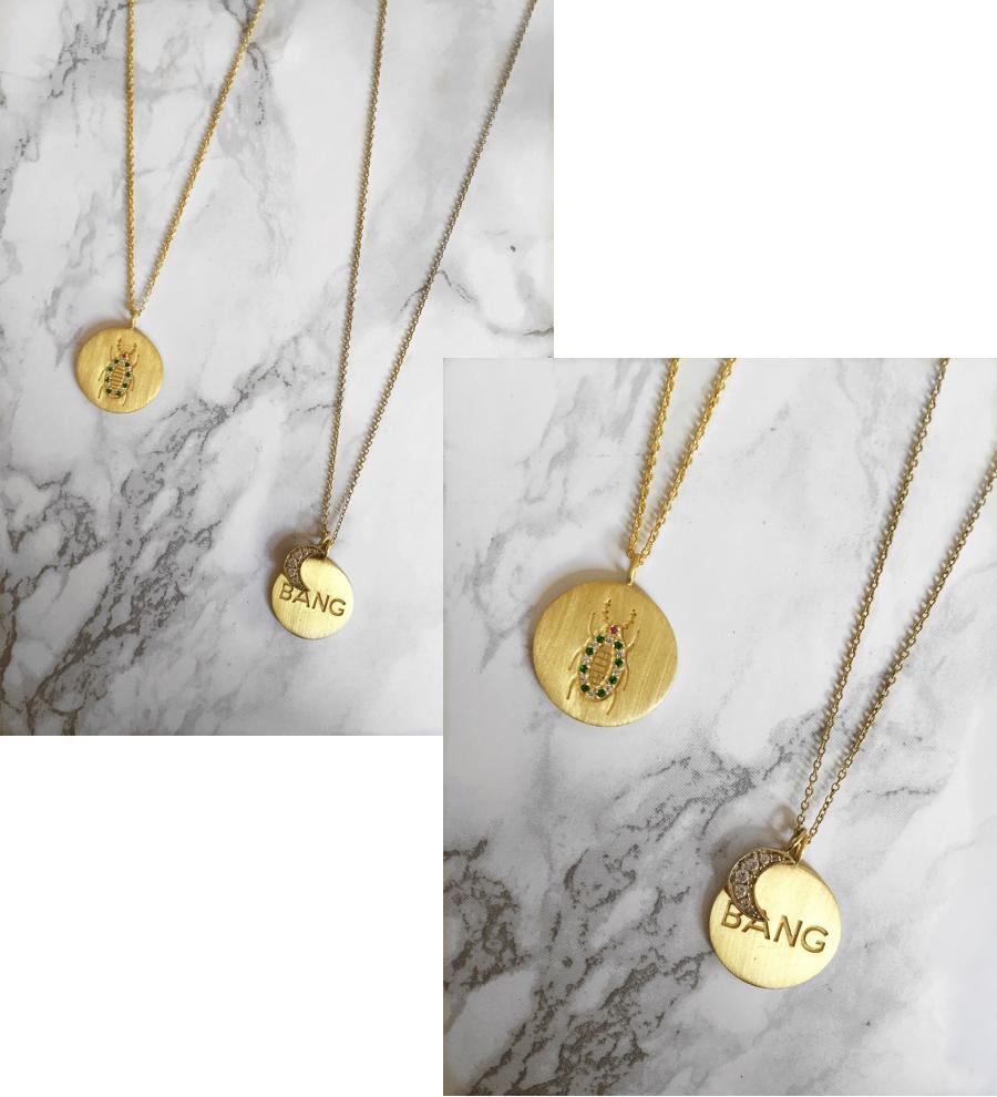 New gold pendants