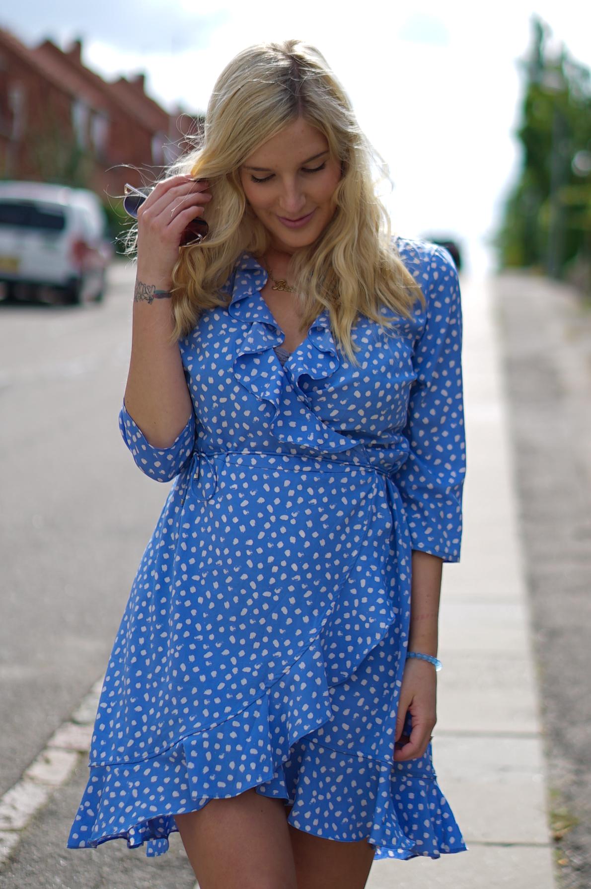 Teeny Weeny Blue Polka Dot Dress