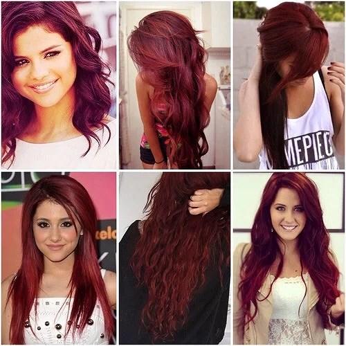 mörk rött hår