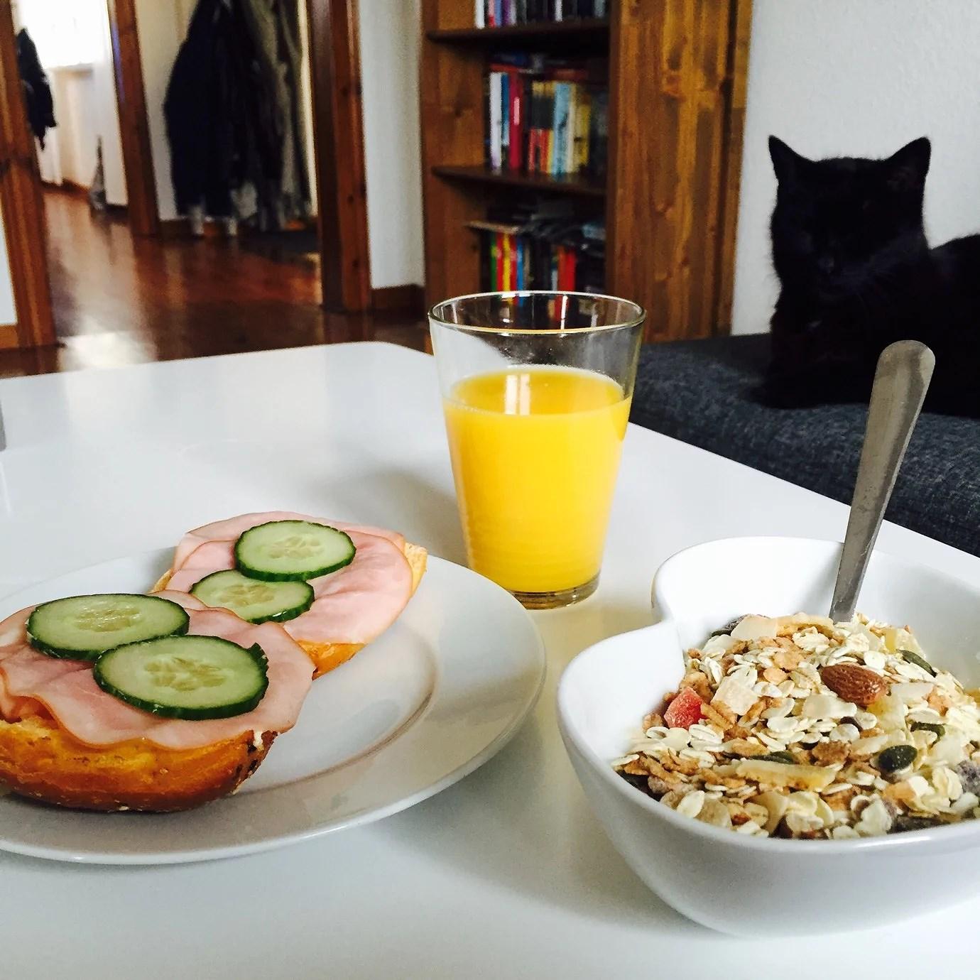 min frukost idag - planer, jobb