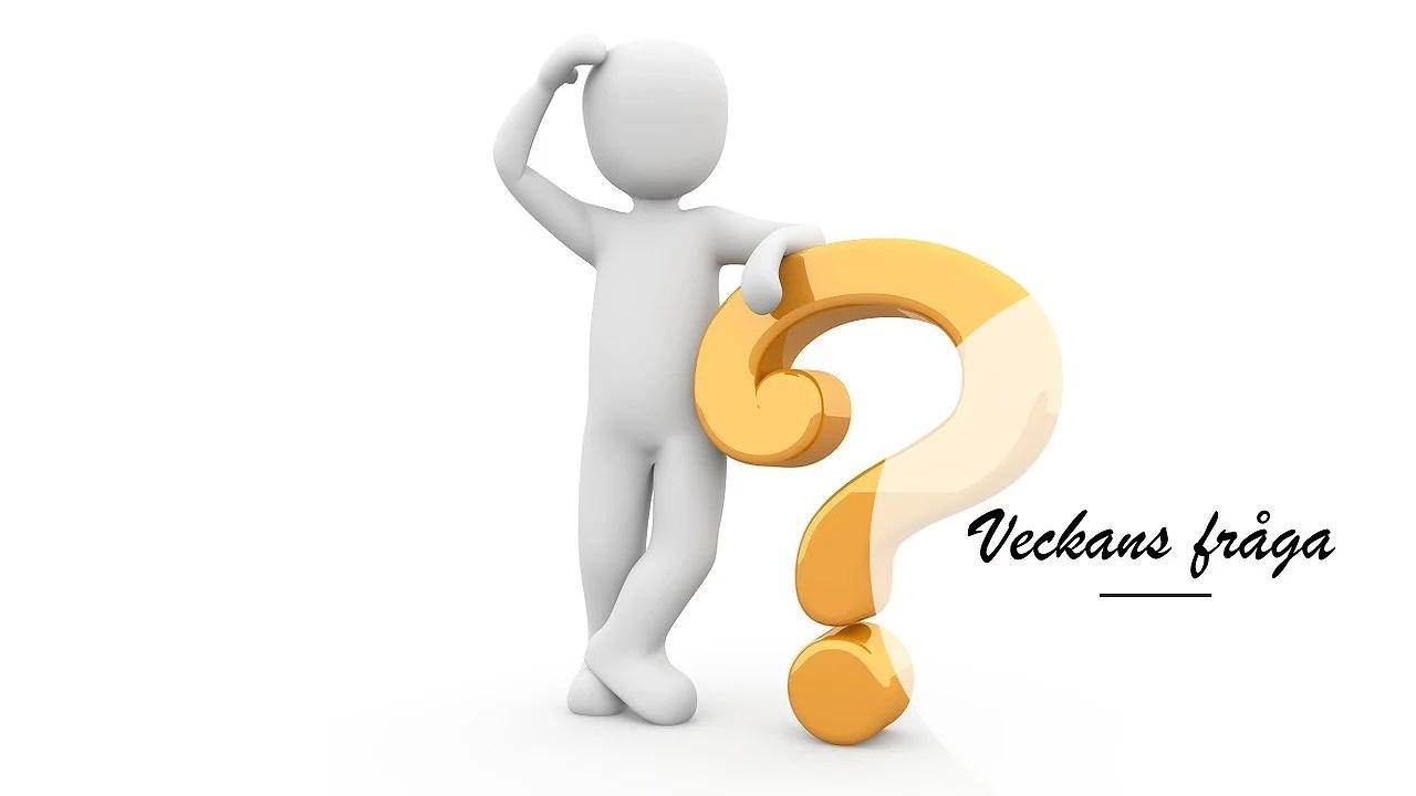 Veckans fråga - Ekonomi