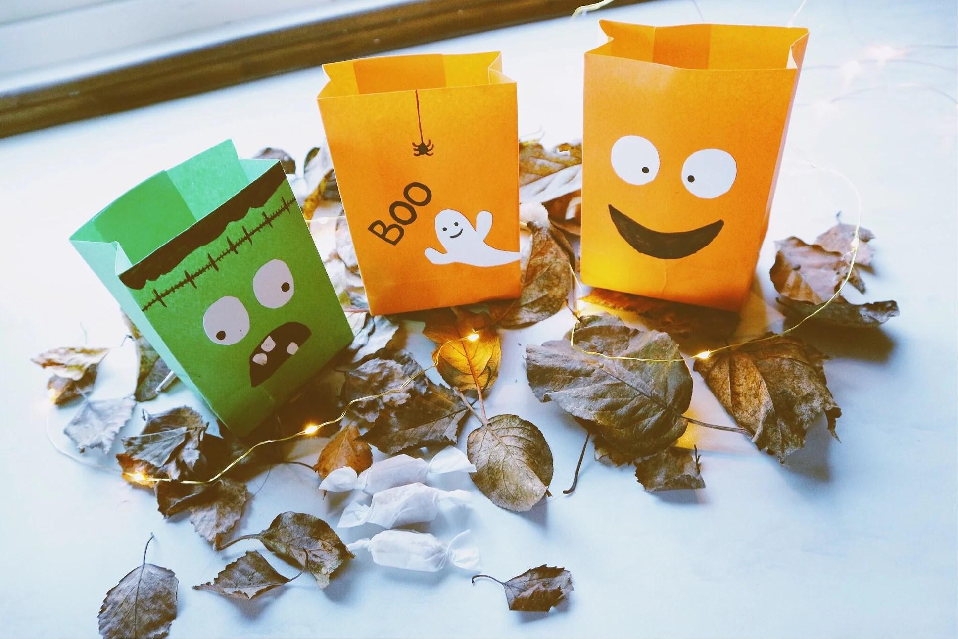 Cute halloween candy bag