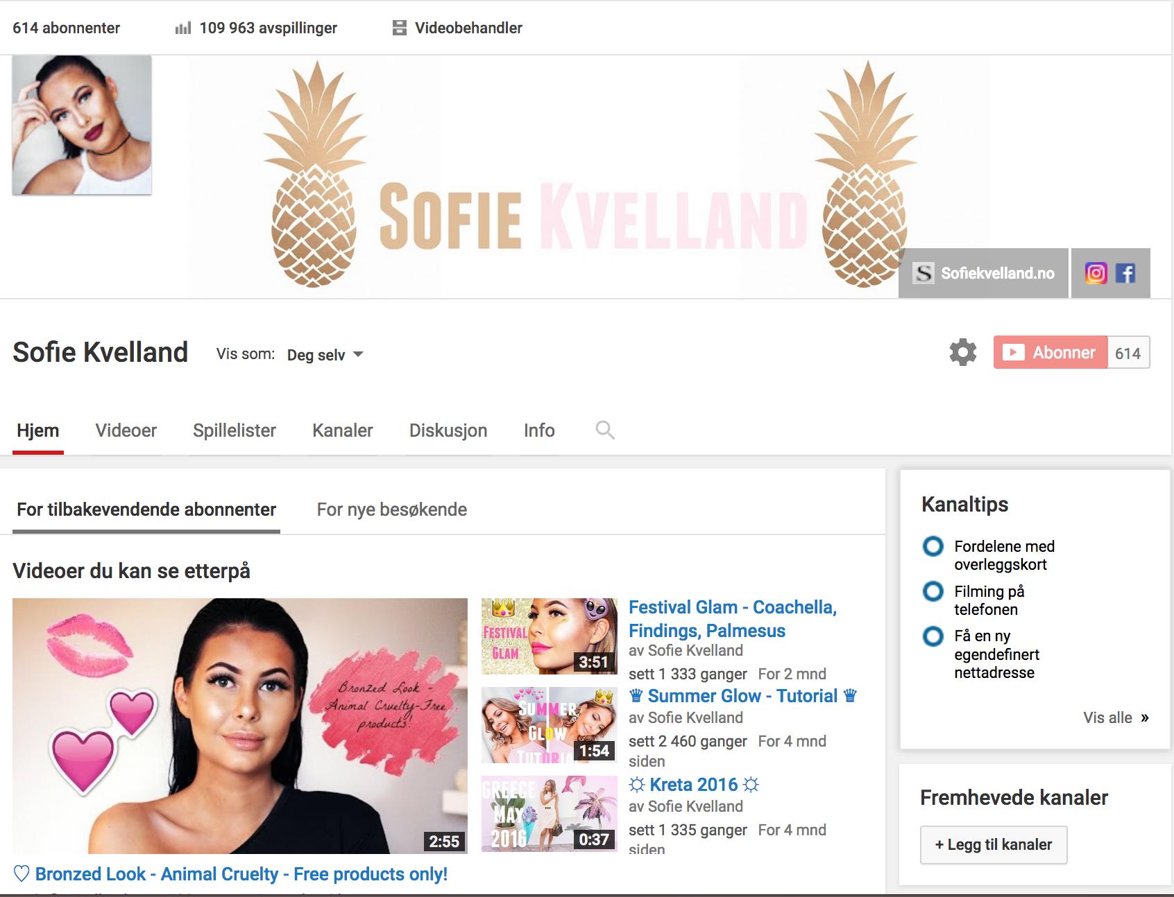 Følg meg på Youtube!