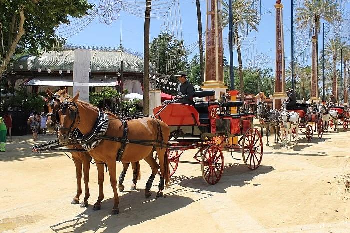 La esencia de la Feria de Jerez con sus coches de caballos