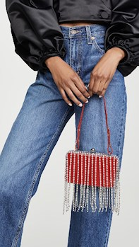 AREA Area Crystal Fringe Phone Clutch