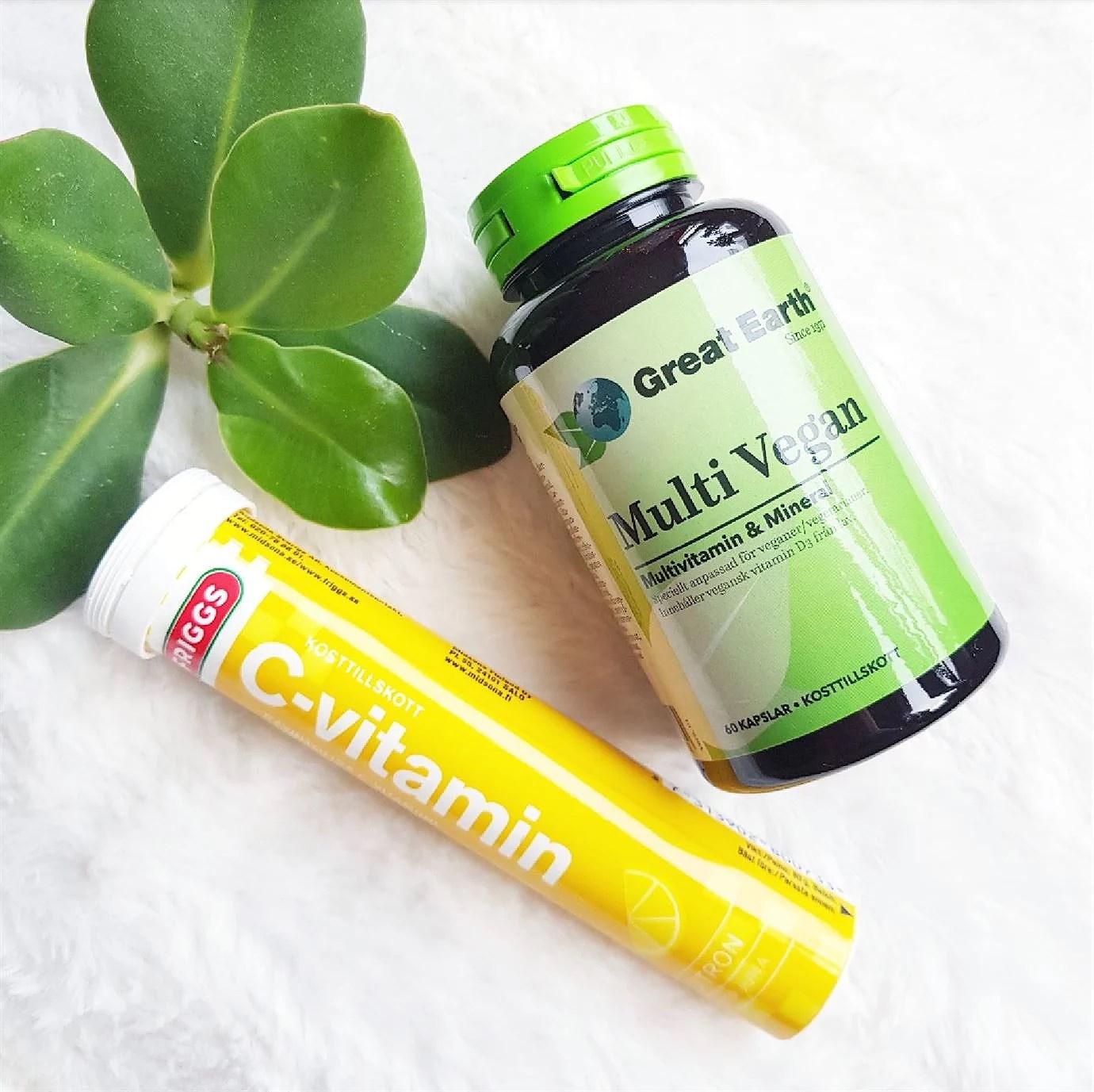 Veganskt kosttillskott multivitamin