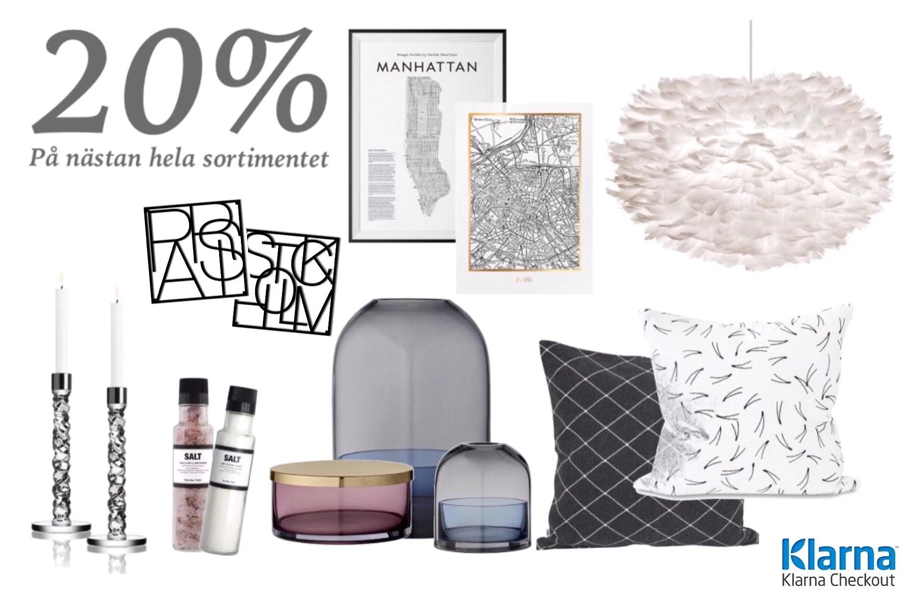 20% på Fina varumärken!