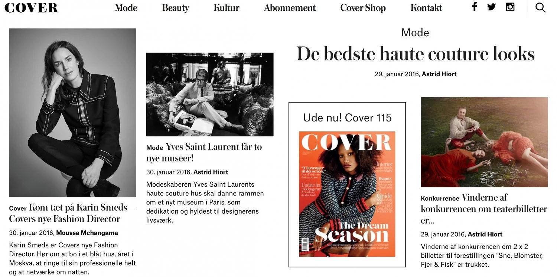 Cover lancerer nyt site