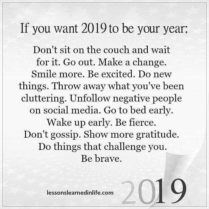 Nytt år ,Nya möljigheter och Nya tag !!