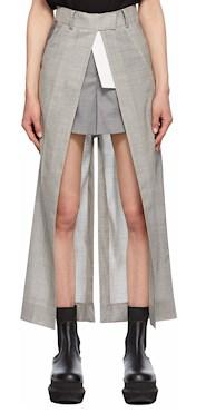 Sacai Grey Open Face Suiting Trouser Shorts