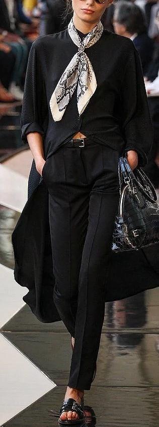 black-and-cream-silk-scarf