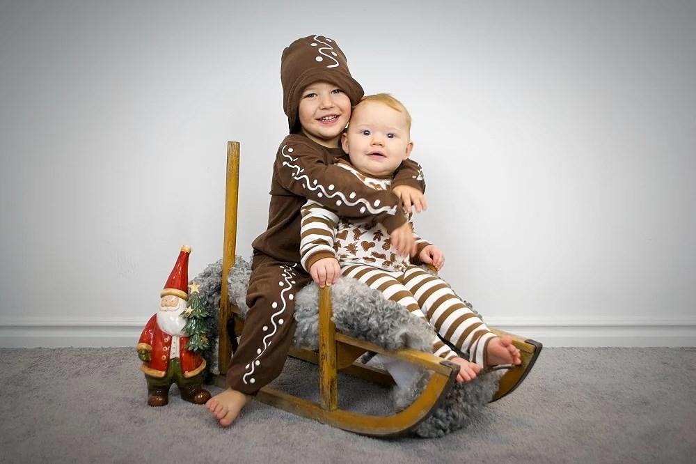 Julfotografering av småkussarna