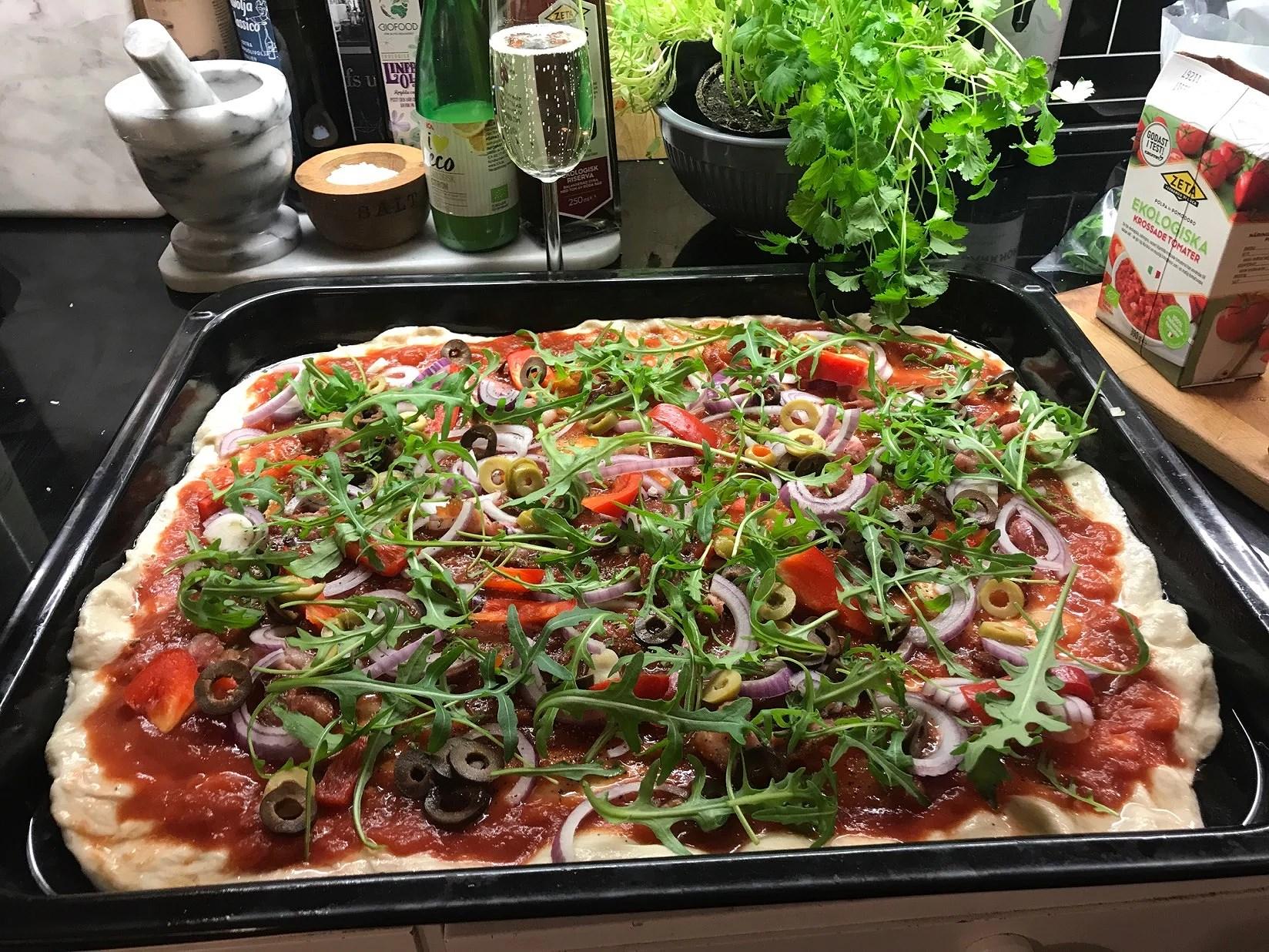 Hemlagad vego pizza 😋