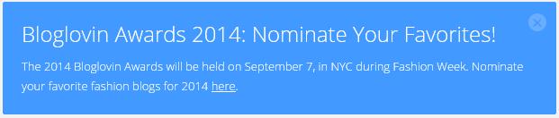 BLOGLOVIN AWARDS 2014: NOMINATE
