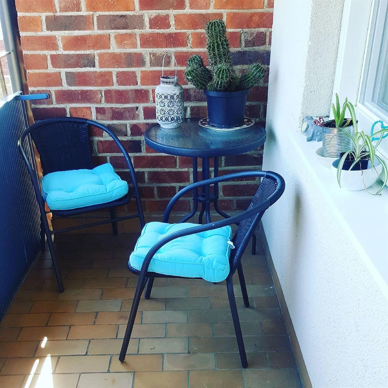 Fixat balkongen fin