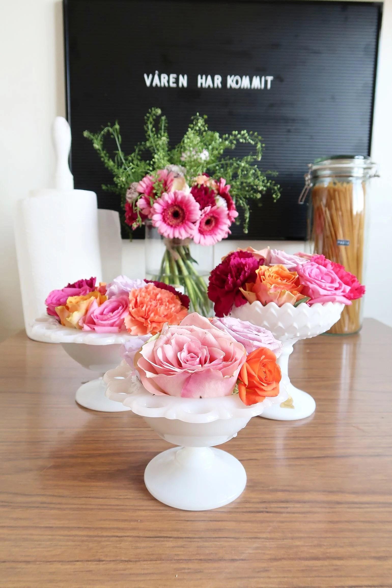 Loppisfynd & korta blommor!