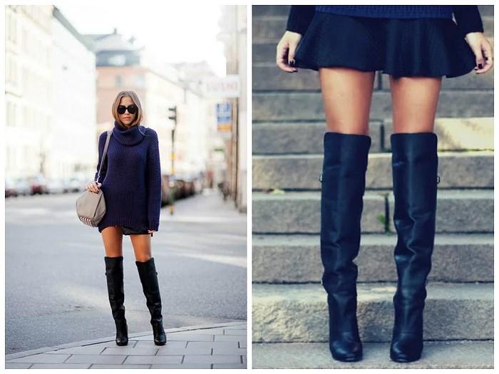 over knee boots mocka
