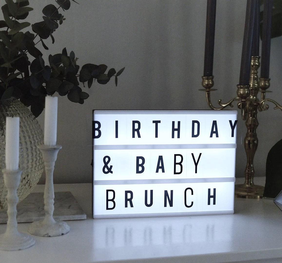 BIRTHDAY AND BABY BRUNCH