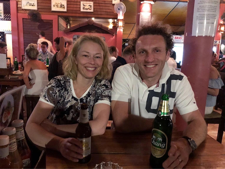 Koh Tao - Mammsen och Arnaud på besök!