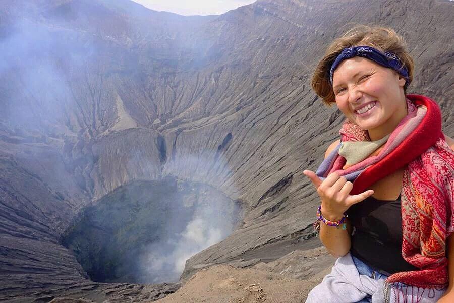Besöker vulkanen Mt Bromo