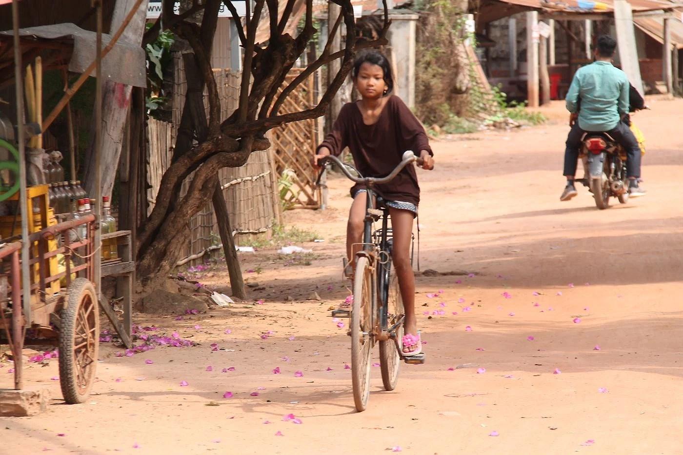 Flytande hus i Siem Reap, Cambodia