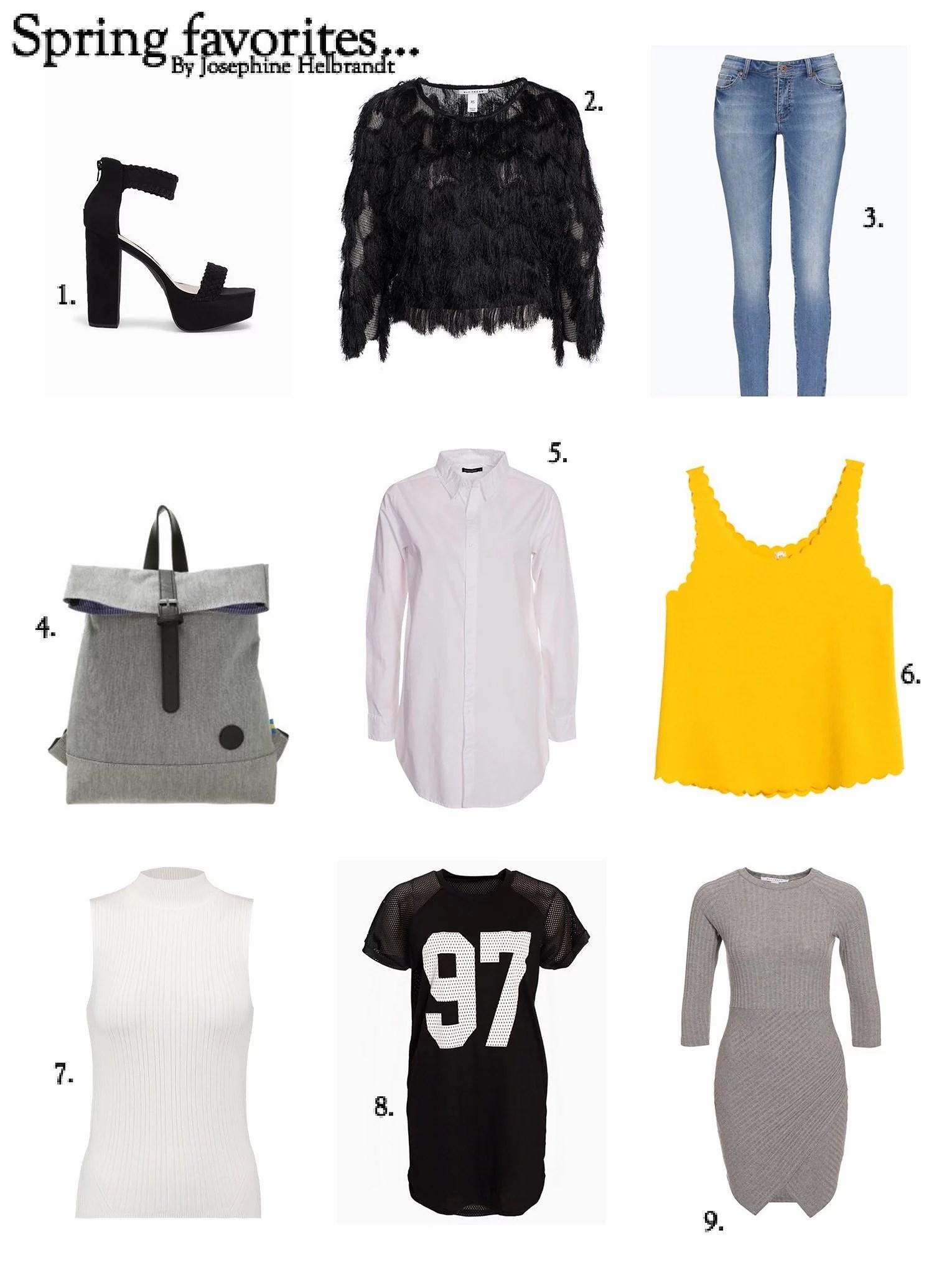 Spring fashion favorites ..