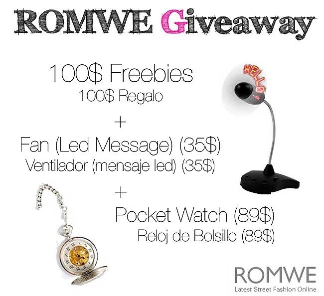 Super ROMWE Giveaway!! / ¡¡Super Sorteo de ROMWE!!