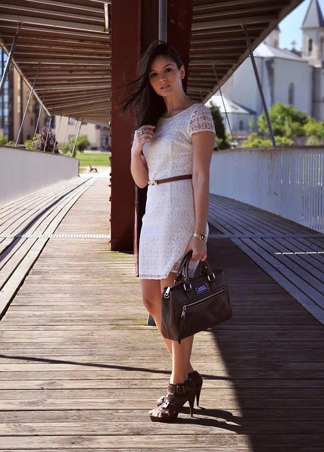 Lace White Dress...♥