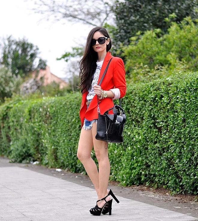 Red Zara Blazer_04