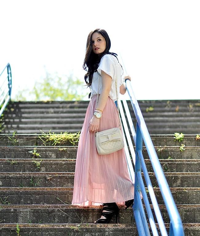 ...Long Pink Skirt...